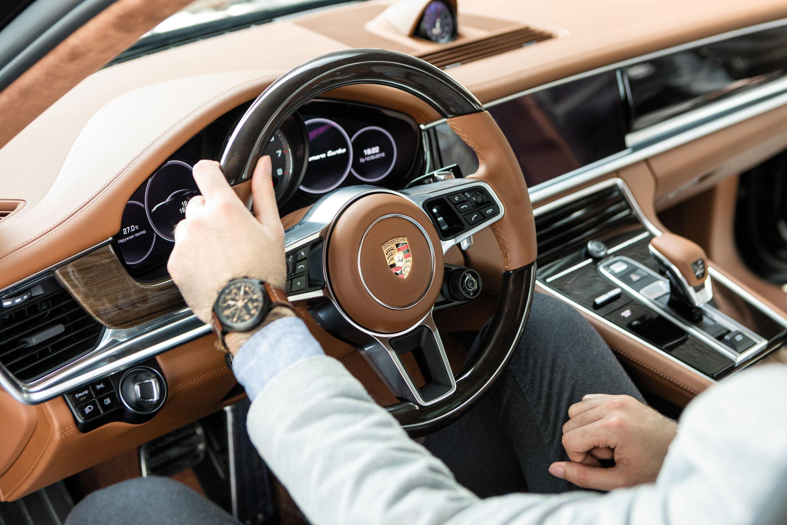 Porsche car interior